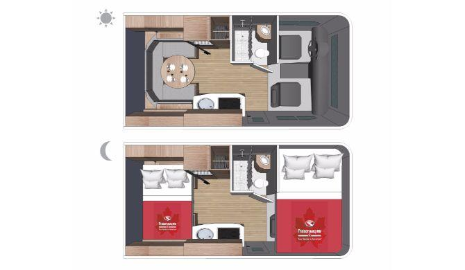 Fraserway C-Small Motorhome Floorplan