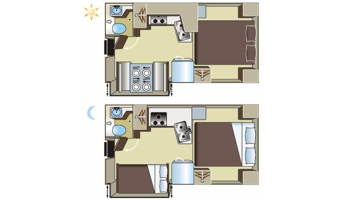 Fraserway TC-S Slide Out Floor Plan