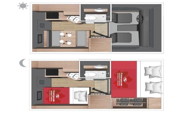 Truck Camper Fraserway Floorplan