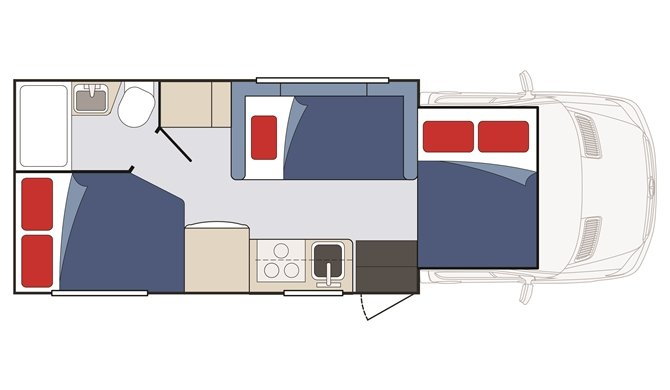 Star RV Taurus Floorplan Night