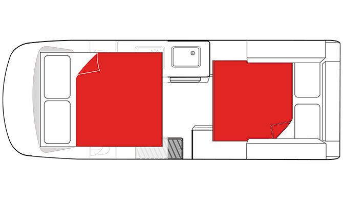 Mighty Double Down Floorplan night