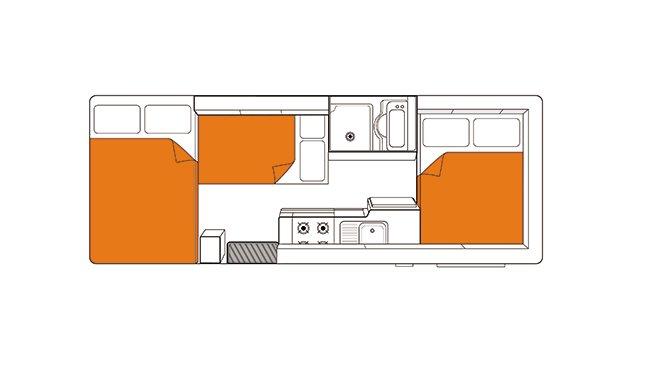 Britz NZ Vista floorplan