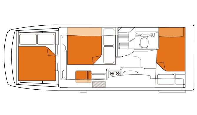 Britz NZ Frontier Floorplan