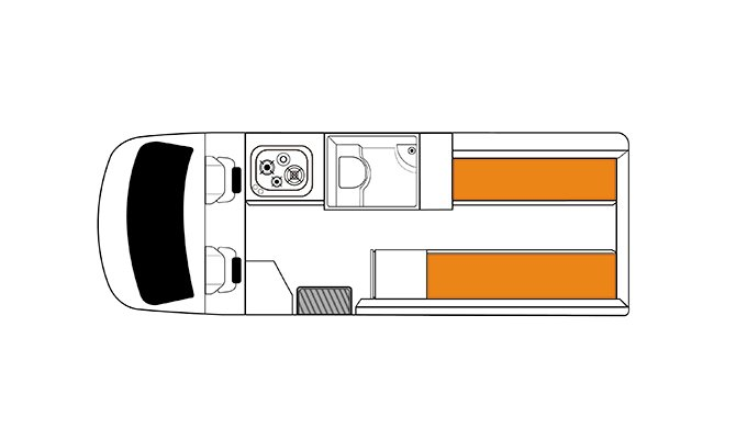 Britz NZ Venturer Floorplan