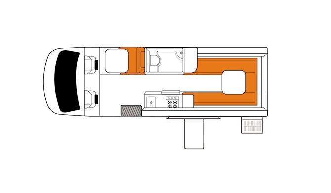 Britz NZ Venturer Plus floorplan
