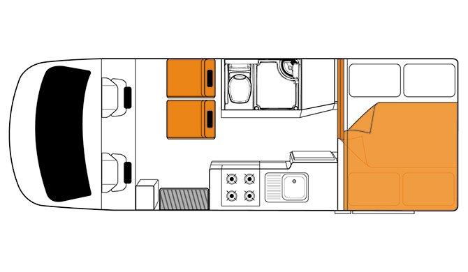 Britz AU Discovery floorplan