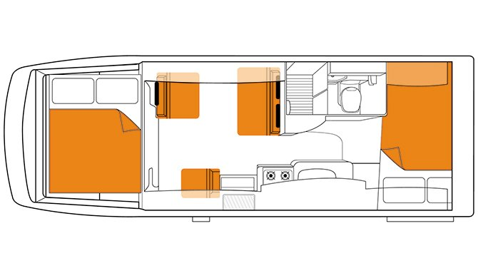 Britz AU Explorer floorplan