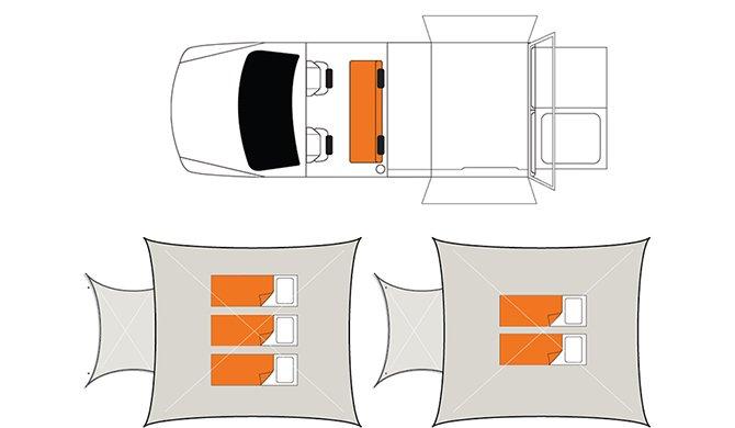 Britz Au outback 4WD floorplan