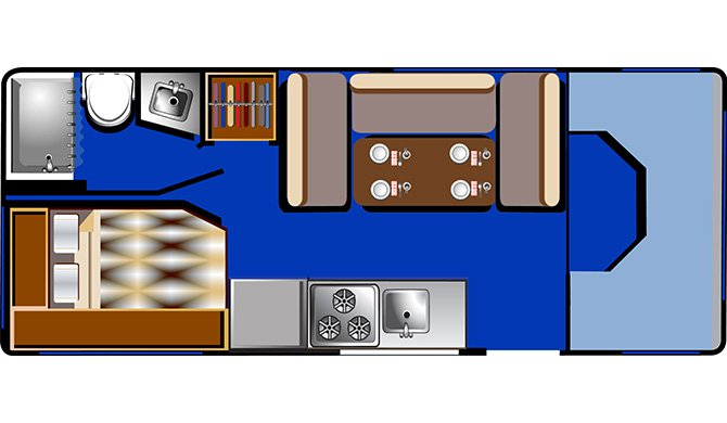 RoadBear C22-24Ft Floorplan