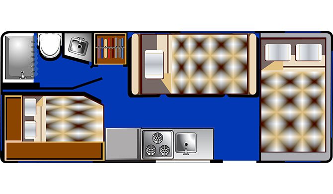 RoadBear 22-24 floorplan night