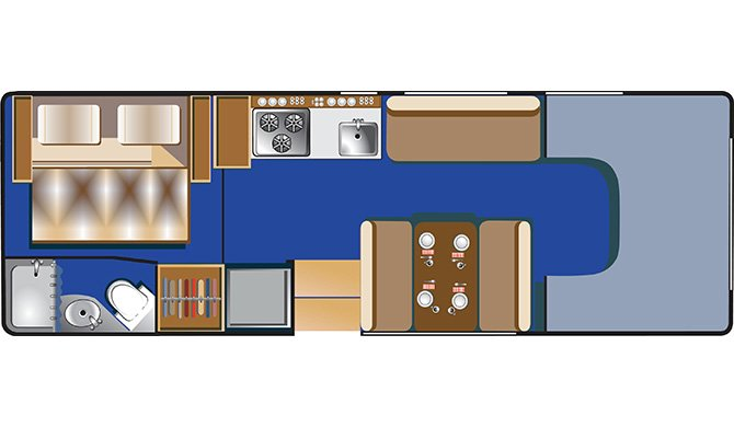 RoadBear C25-27Ft Floorplan