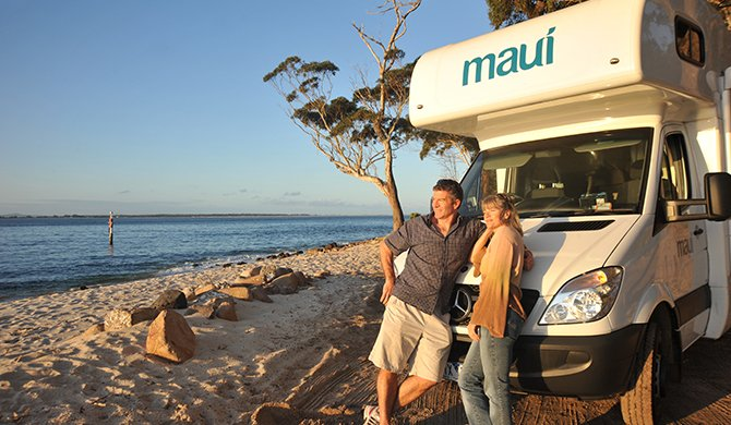 Maui Platinum Beach cairns north queensland au andrew wation parked beach couple exterior