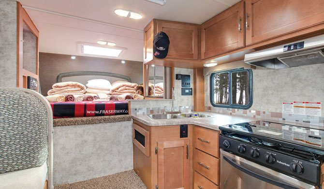 Truck Camper Fraserway Slide out interior