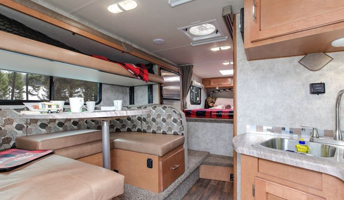 Truck Camper Fraserway Slide out bunk interior