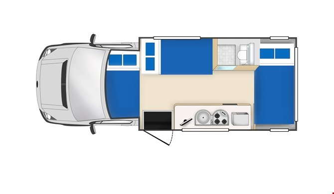 Cheapa Campa 6Berth  floorplan night