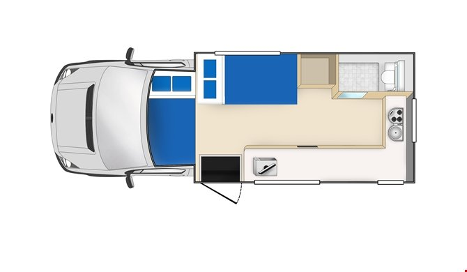 Cheapa Campa 4Berth Floorplan night