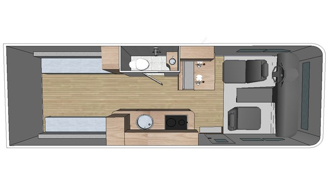 Fraserway Van Conversion floorplan