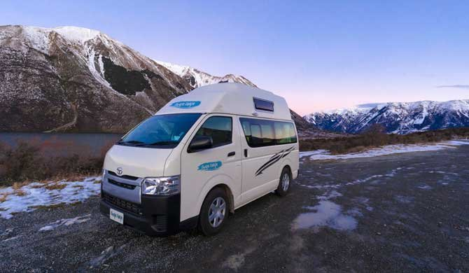 Op camperreis door Nieuw-Zeeland in de Cheapa Campa Hitop camper