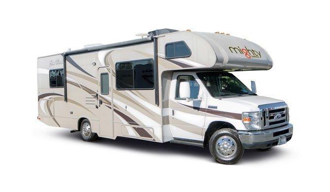 Huur de Mighty M28 camper en ga op reis door Amerika
