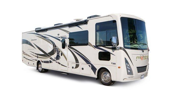 Huur de grote Mighty MA33 camperbus en ga op reis door Amerika