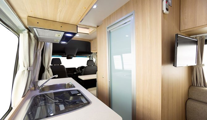 Het interieur van de Star RV Aquila camper