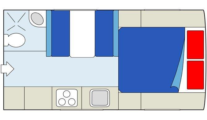De plattegrond van de CanaDream TCA camper