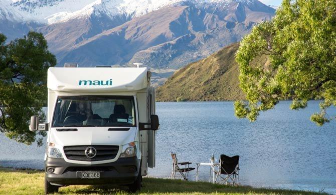Ga op camperreis door Nieuw-Zeeland in de Maui Cascade camper