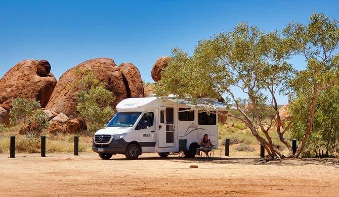 Ga op camperreis door Australië in de Maui Cascade camper