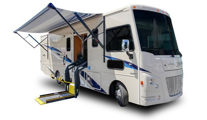 Ga op camperreis door Canada in de Fraserway A30 rolstoeltoegankelijke camper