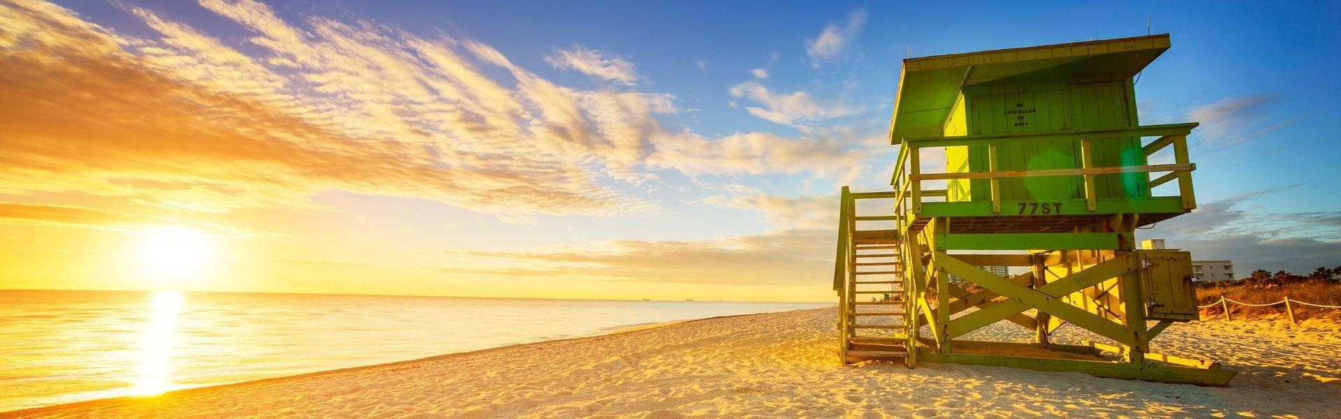 Baywatch huisje op het strand in Florida