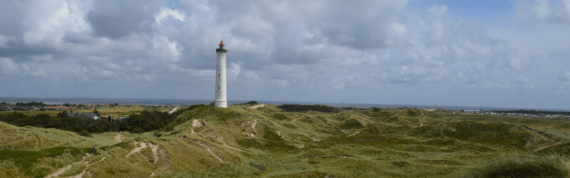 Vuurtoren in Denemarken. Denemarken is een perfect land voor een campervakantie.